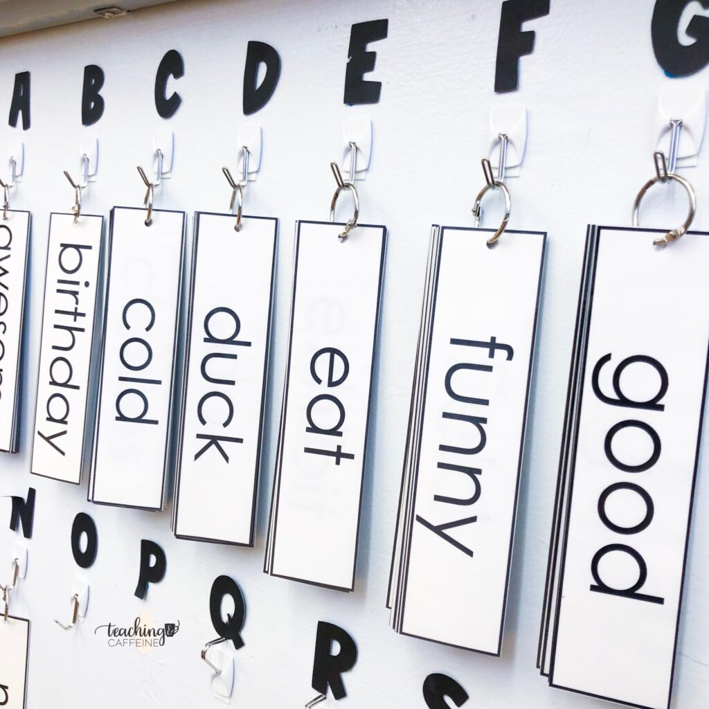 assembled word wall