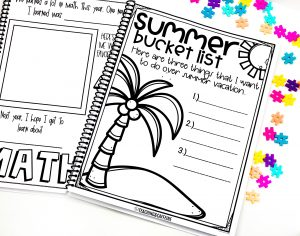 End of the Year Memory Book Summer Bucket List