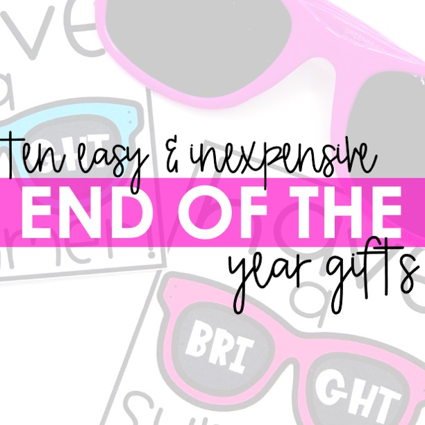 10 Easy and Inexpensive End of the Year Gifts